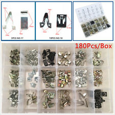 180pc/Box Car Dashboard FM Audio Center Console Panel Metal Fastener Screw Clips