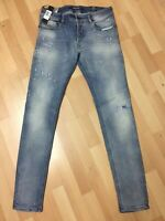 MADE ITALY Mens Diesel DNA SLEENKER Stretch Denim 084GM Blue Slim W31 L32 H6
