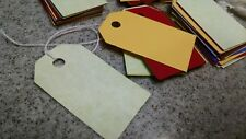 100 colorful 85lb card stock price tags, gift tags, labels read description