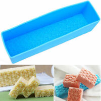Rose Flower Silicone Soap Mold Rectangle Toast Loaf Cake Baking Chocolate DIY US