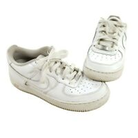 Nike Air Force 1 AF1 Low White Basketball Shoes 314192-117 Youth Size 6Y