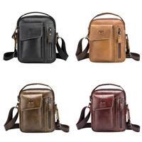 BULLCAPTAIN Casual Men Leather Sling Messenger Bag Shoulder Crossbody Bags N#S7
