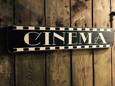 Cinema Sign Vintage Style Old Look Shop Pub Home TV Room Kids Gift Party Fun