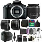 Canon EOS 2000D 24.1MP DSLR Camera + 18-55mm Lens + 8GB Accessory Bundle