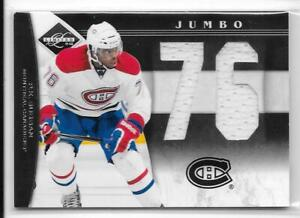 11-12 LIMITED JUMBO DIE-CUT NUMBER JERSEY #39 P.K. SUBBAN 9/25 CANADIENS
