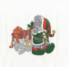"DMC Christmas Tatty Teddy ""Delivering Christmas GIfts"" Cross Stitch Kit"
