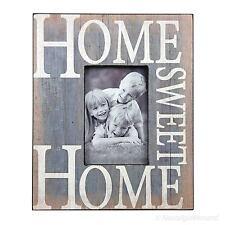 Shabby Chic Fotorahmen Bilderrahmen 9x14 Holz Rahmen Blau Weiß Vintage Stil Look
