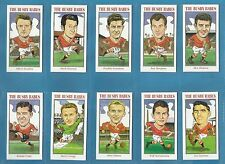 cigarette/trade cards - THE BUSBY BABES 2nd series (Manchester United) Full set