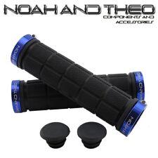 Noah and theo DOBLE Acopla bicicleta de montaña apretones manillar Negro Azul