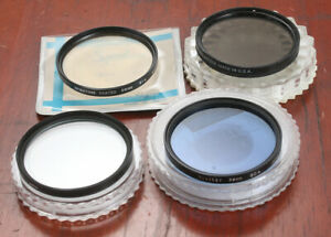 LOT OF FOUR 58MM FILTERS, POLARIZING, SPOT, 81A AND AN 80A/173919
