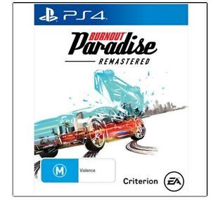 PS4 - Burnout Paradise : Remastered...DISC LIKE NEW   V1