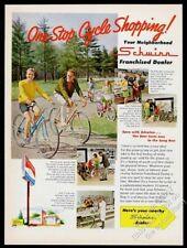 1969 Schwinn Sting Ray girl's pink bike red boy's & adult bikes photo vintage ad