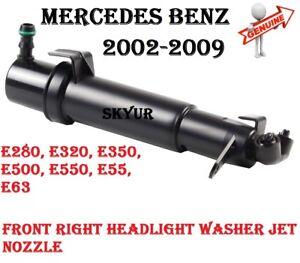 MERCEDES E280 E320 E350 E500 E550 E55 E63 Right Headlight Washer Nozzle GENUINE