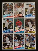 2020 Topps Series 1 1985 TOPPS RELIC You Pick From List