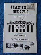 Gentlemen Prefer Blondes - Valley Forge Playbill w/Ticket - July 1st, 1966