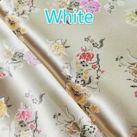 Chinese Floral Satin Faux Silk Fabric DIY Jacquard Brocade Tang Suit Upholstery