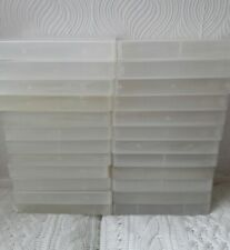 JOB LOT 24 EMPTY VHS VIDEO CASES - PLASTIC STORAGE BOXES - CRAFT/ HOBBIES