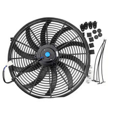 """Universal 16""""inch Radiator Cooling Fan Electric Curved S Blade Reversible UK"""