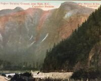 Postcard Indian Burying Ground Yale B.C Canadian Rockies Hand Tinted Vintage P06