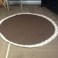 "Lace ROUND Dinning Tablecloth 60"" Brown"