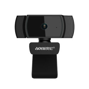 Aoni Webcam Auto Focus Camera 1080P 30FPS USB HD Build-in Microphone For Laptop