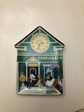 Donald'S Watch And Clock Shop Plate Mickey's Village #6 Bradford Exchange