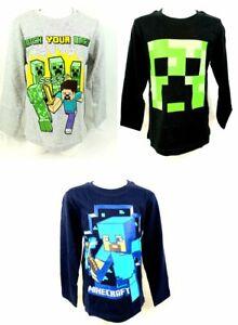 Minecraft Mojang Langarm Shirt T-Shirt Pullover in 3 Motiven Gr 116 128 140 152