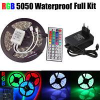 5M LED Stripe 5050SMD RGB Leiste Streifen Lichtband 44 Key Remote EU Netzteil