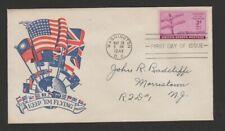 US 1944 FDC patriotic cachet - telegraph centenary