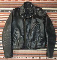 Vintage AMF Harley Davidson Leather Motorcycle Jacket Biker Punk 40 Talon Zipper