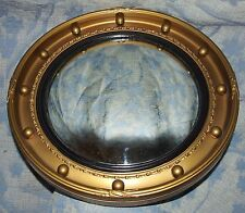 Antique Gilt Wood Giltwood Convex Glass Mirror (4)