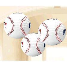 MLB BASEBALL PAPER LANTERNS (3) ~ Birthday Party Supplies Decorations Sports