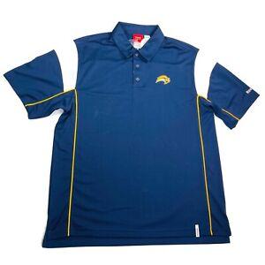 NHL Buffalo Sabres Reebok Mens Polo Shirt Size Large Dark Blue White NEW