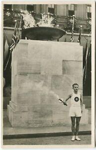 1936 OLYMPICS, LIGHTING THE FLAME, BERLIN, THIRD REICH, - Sport Postcard