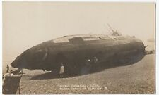 German Submarine U118, Washed Ashore At Hastings 1919 RP PPC, Unposted
