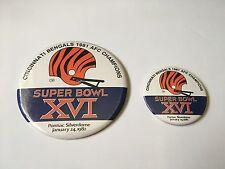 Rare Set Of Vintage 1982 Cincinnati Bengals Super Bowl Xvi Nfl Button Pins