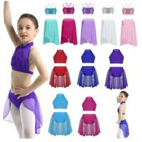Girls Kids Ballet Tutu Dress Gymnastics Leotard Skirt Ballerina Dance Costumes
