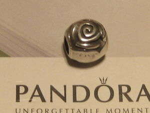 AUTHENTIC PANDORA SILVER ROSE BUD FLOWER CHARM -  790398