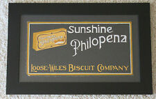 VINTAGE PHILOPENA SUNSHINE BISCUIT ADVERTISTMENT ILLUSTRATION SIGN PAINTING