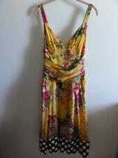 NWOT $615 TRELISE COOPER NZ Great Spots Jamaica 100% Silk Sun Dress 8-10 AWESOME