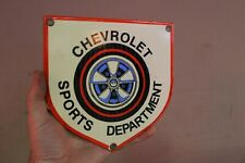 CHEVROLET SPORTS DEPT. SERVICE DEALER CHEVY PORCELAIN METAL SIGN GAS OIL