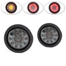 """4 """" integriertem LED STOP Rücklicht & Blinker für Wohnwagen Anhänger Wohnmobile"""