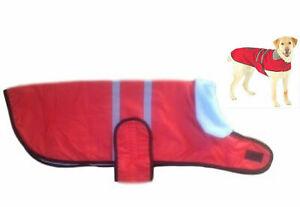 """Dog wind/waterproof coat jacket clothes fleece lining Medium to Large dog, 22"""""""