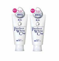 SHISEIDO SENKA Perfect Whip White Clay 120g Face Wash from Japan ×2