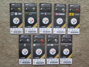 Pittsburgh Steelers 2015 Ticket stub lot Complete set including 1 preseason!!