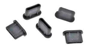 5x BOUCHON CACHE ANTI-POUSSIERE USB TYPE-C SILICONE pour Sony Xperia Pro