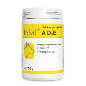 Dolvit Calcium Phosphate A D3 E 500g for Puppy Adult Pregnant Nursing Dogs