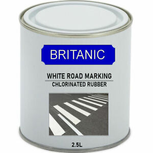 Road Line Marking Paint White - Chlorinated Rubber