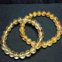 1pcs Gold Rutilated Quartz Gemstone bracelet size 8mm Tassel mala Meditation