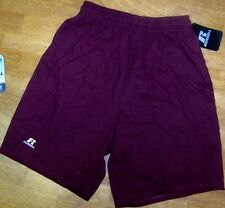 Athletic Shorts 2pair Maroon Russell Cotton 42715 Men size Small  New